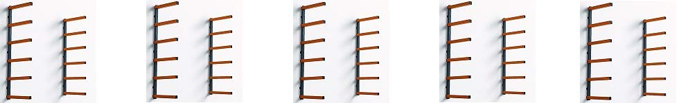 Lumber Storage Rack Portamate PBR-001. Six-Level Wall Mount Wood Organizer Rack that Holds Up to 100 lbs. per Level. Ideal for both Indoor and Outdoor Use. HTC PBR001