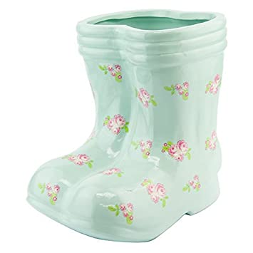 Other Large Ceramic Wellie Wellington Boots Planter Indoor Outdoor