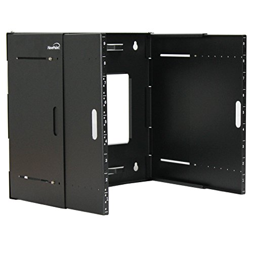 NavePoint 9U Wall Mount Bracket Extendable Network Equipment Rack Threaded Standard 19