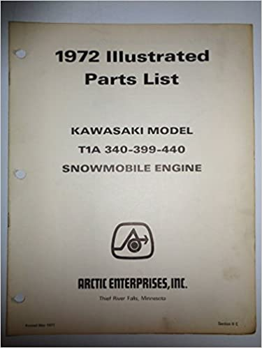 Arctic Cat Snowmobile, Kawasaki T1A-340-399-440 Engine Parts List