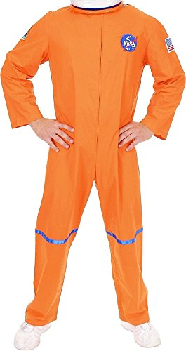 Orange Astronaut Jumpsuit Adult Mens Costumes (Astronaut Suit Adult Costume Orange - X-Large)