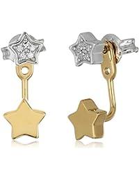 Sterling Silver Star Earrings Jacket