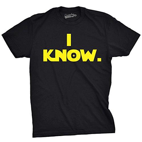 Crazy Dog TShirts - Mens I Know. Matching Couples Relaltionship Vintage Movie T shirt (Black) S - herren - S