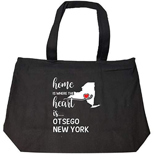Otsego County New York Is Where My Heart Is Gift - Tote Bag With Zip