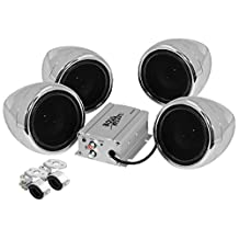 BOSS Audio MC450 Motorcycle/UTV Speaker and 4 Channel Amplifier System with 2-Pair 3-Inch Speakers