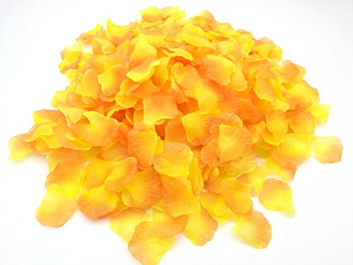 SMILE PARTY 2200 PCS Yellow Silk Rose Petals Wedding Flower Decoration