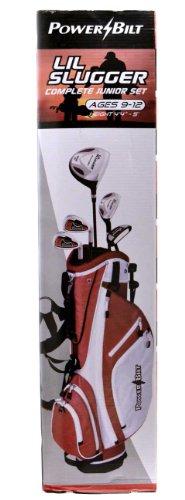 PowerBilt Lil Slugger Junior 8-Piece Red Golf Set Ages 9-12