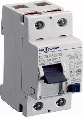 ABL Sursum FI-Schutzschalter RP2203 2p, 25A, 0,03A Fehlerstrom-Schutzschalter 4011721100760