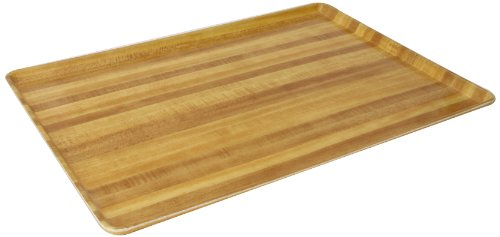 Carlisle 1520LWFG094 Fiberglass Glasteel Wood Grain Low Edge Tray, 20.25