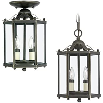 Sea Gull Lighting 5231 782 3 Light Hall and Foyer Fixture Clear