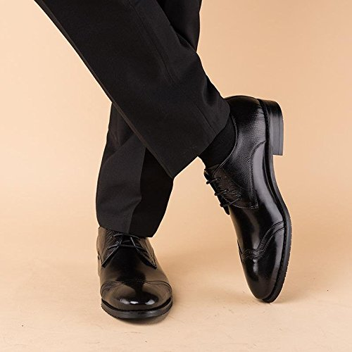 Uomini XIE Vestito Allacciare piede del Attivit appuntito Nozze Dito Nero Scarpe Formale dx6TxHnq