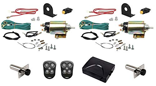 Megatronix CP500SDK2P 2-Door Remote Control Heavy Duty Shaved Door Handle Kit 50Lbs Pull With Poppers