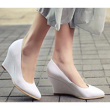 EU37 Con 5 UK4 De Cuero Mujer Plana Y Blanco 5 Negro Vaca Informal Primavera CN37 Fabricada Confort Confort La 7 US6 Nude Sneakers En 5 pxRqBAwAI