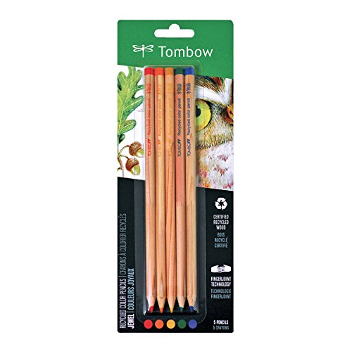 Tombow Recycled Colored Pencils, Jewel, 5-Pack