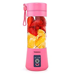 Portable Blender, Personal Size Blender Shakes and Smoothies Mini Jucier Cup USB Rechargeable