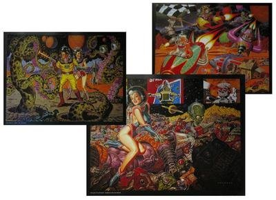 Todd Schorr Aliens, Hot Rodders, & Robots Set Of 3 Posters by Lowbrow