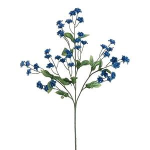 "Arcadia Silk Plantation 19"" Silk Double Baby's Breath Flower Spray -Royal Blue (pack of 48) 5"