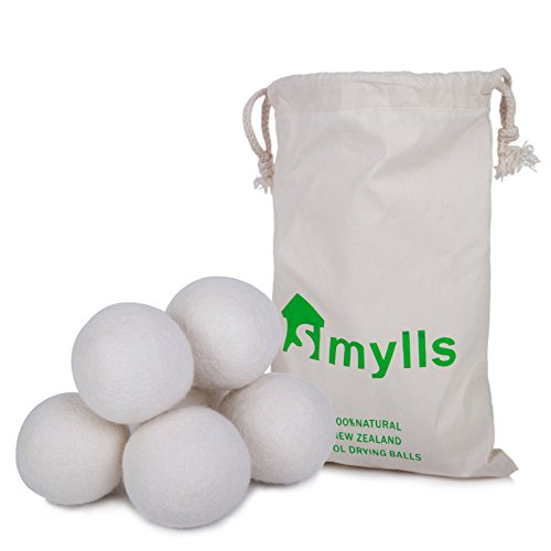 Eco Friendly Washing Machine (SMYLLS Wool Dryer Balls, Organic Reusable Natural Fabric Softener ,Set of 6)