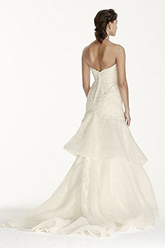 Organza Jewel Lace WG3760 Wedding Trumpet David's Ivory with Bridal Style Dress 1S0x1q5E
