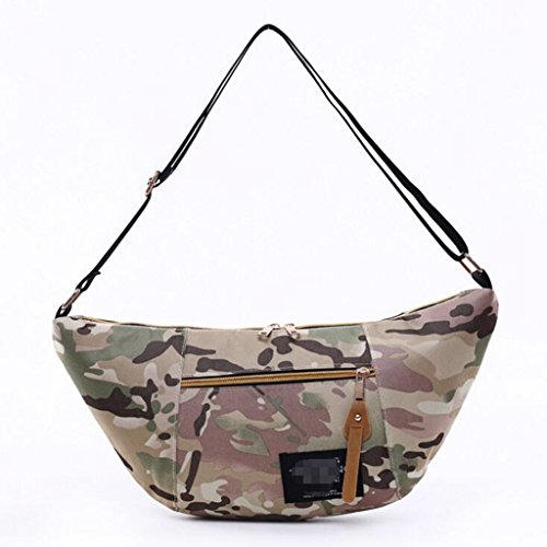 - Sucastle Casual bag fashion bag handbag Messenger bag shoulder bag nylon bag Sucastle Color:camouflage Size:40x20x7cm