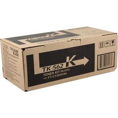 Kyocera 1T02HN0US0 Model TK-562K Black Toner Kit for Ecosys C5300DN/C5350DN/P6030CDN, Genuine Kyocera, Up To 12000 Pages