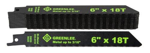 Greenlee 353-618B 6-Inch Metal Cutting Reciprocating Saw Bla