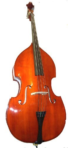 GRACE 1/4 Size Student Natural Upright Double Bass with Bag,Bow,Bridge+Free Rosin by Merano