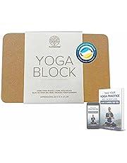 Clay & Burns Natuurlijk kurk yogablok   Yogasteen   100% gemaakt van natuurlijk kurk Yoga, Pilates en trainingsblok   Blok om Hatha Yoga en Meditatie te beoefenen