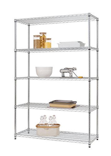 - Trinity EcoStorage 5-Tier NSF Wire Shelving Rack, 48 by 18 by 72-Inch, Chrome