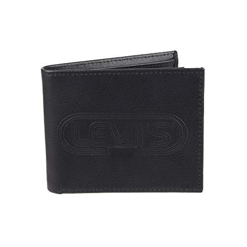 (Levi's Men's RFID Blocking Extra Capacity Slimfold Wallet, charcoal black, One Size)