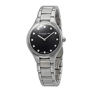 Reloj de Cuarzo Raymond Weil Noemia Ladies, Negro, 12 Diamantes, 5132-ST-20081 7