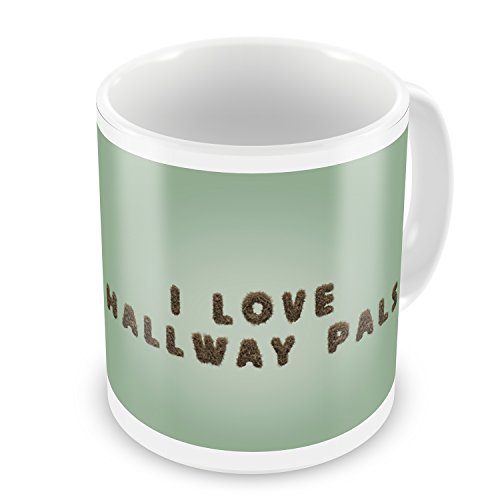 Coffee Mug I Love Hallway Pals Furry Teddy Bear Letters - NEONBLOND (Pal Furry)