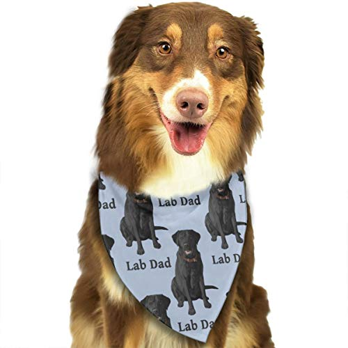 ROCKSKY Cute Puppy and Pet Bandanas, Lab Dad Black Labrador Retriever Dog, Triangle Wedding Dog Bandana Scarf Bibs Fashion Headkerchief Hankie Suit for Medium to Large Sized Dogs]()