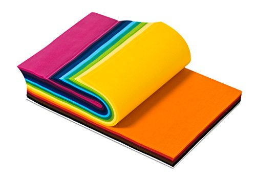 Smart-Fab Disposable Craft Fabric 12 x 18 Inch Sheets, Assorted Colors, Pack of 270 Sheets: Perfect for Schools, Classrooms, Crafts, Art, Bulletin Boards, Sew, Draw, Paint it, Unique Non Woven Material (SFB238121827099) by Smart-Fab