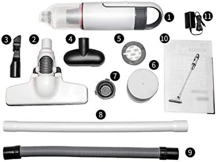 LQPOUXCQ aspirateur balai Aspirateur sans fil, 2-in-1 vertical Aspirateur portatif, portable à nettoyer ou de voiture, facile et amusant à utiliser