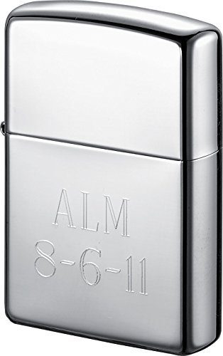 Personalized Zippo Armor Polished Chrome Lighter with Free ()