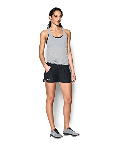 Under Armour Women's Play Up Shorts 2.0, Black (002)/White, XX-Small by Under Armour (Image #2)
