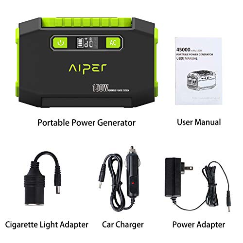 AIPER Portable Power Station 167Wh 45000mAh Solar Generator Lithium Battery Backup Power Supply with Dual 110V AC Outlet, 3 DC Ports, 2 USB Outputs for Home Emergency Camping CPAP Outdoors by AIPER (Image #7)
