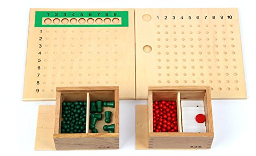 Beadboard Desk (Baby Toys 2 In 1 Kid Advance Montessori Division And Multiplication Bead Board Child Early Learning Toys Maths Training Gift)