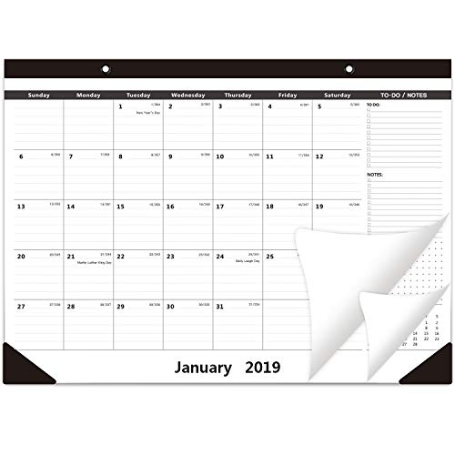 Off Daily Desk Calendar Base - 2019 Wall Calendar Office Business Desk Pad Large Monthly Pages - from January to December 16.5