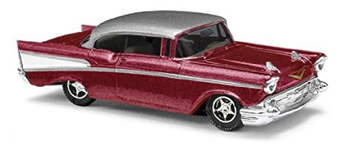 Bel Air Coupe Red Gray - Assembled 1/87 ()