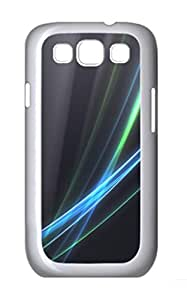 Fancy Lines Polycarbonate Hard Case Cover for Samsung Galaxy S3 I9300¨C White