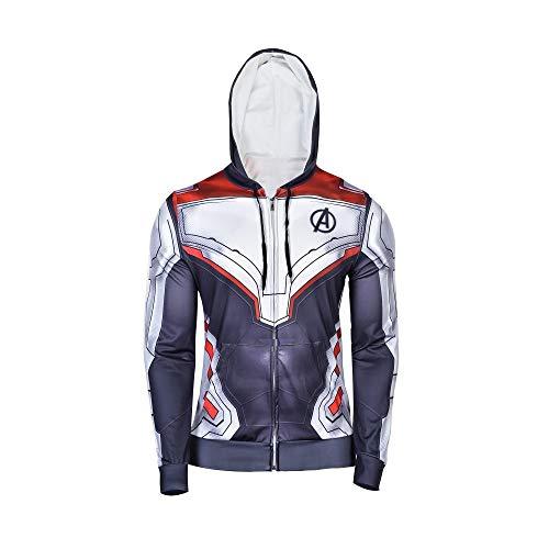 PONGONE Superhero Hoodie Advanced Tech Sweatshirt Halloween Cosplay Hooded Jacket 2XL]()