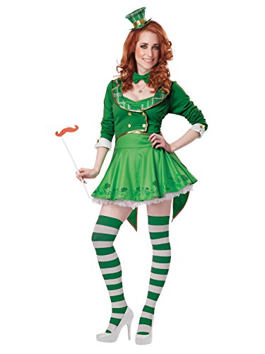 (California Costumes Women's Lucky Charm Adult, Green/White,)