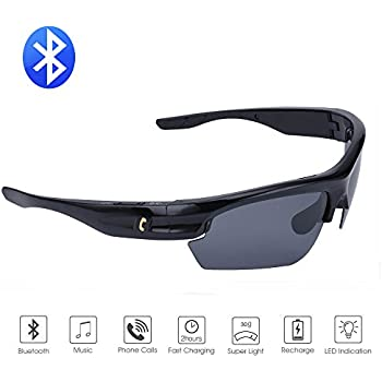 da8cde79cb Bluetooth Sunglasses Lightweight Design Smart One Touch function with  Wireless Stereo Bluetooth 4.1 Headset Headphones Polarized Glasses for  Outdoor ...