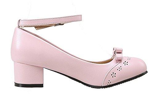di Fibbia Donna VogueZone009 Flats Rosa Puro Ballet Maiale Pelle Tonda Punta xHSftdfnX