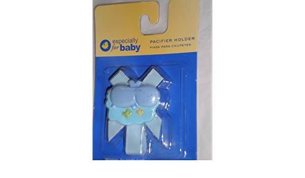 Amazon.com : Especially for Baby Pacifier Holder, Blue Hippo ...