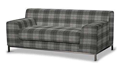 saustark design dundee cover for ikea kramfors 2 seater sofa check pattern grey ektorp