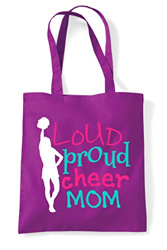 Cheerleading Mom Magenta Proud Statement Cheer Tote Shopper Loud Bag t1wqgv
