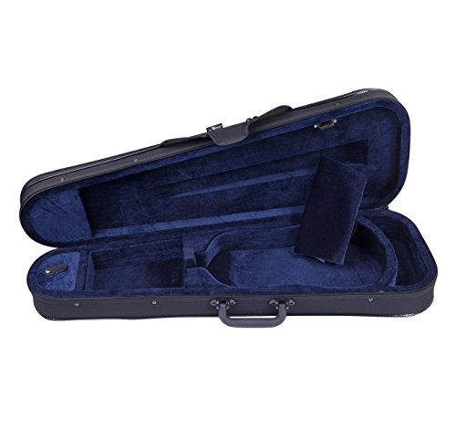 Aileen Basic Professional Triangular Lightweight Suspension Carry Violin Hard Case - 4/4 Full Size Black by Aileen